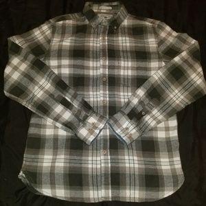 Denim & Flower Plaid Flannel Shirt